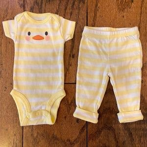 Two-Piece Chick Easter Outfit Newborn